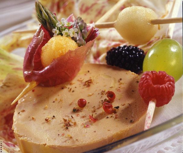 recette foie gras brochettes de fruits. Black Bedroom Furniture Sets. Home Design Ideas